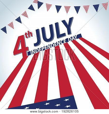 4th of July USA Independence day banner design template. vector illustration.