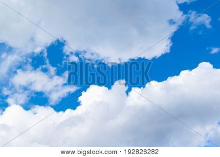 Beautiful Of Blue Sky With White Cloud For Texture Background. Concept Idea Background.