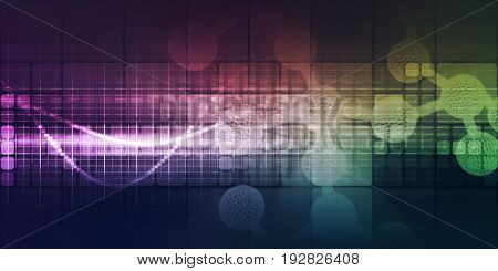 Science and Technology Innovation Concept Background as Art 3D Illustration Render