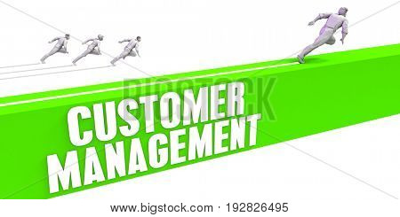 Customer Management as a Fast Track To Success 3D Illustration Render