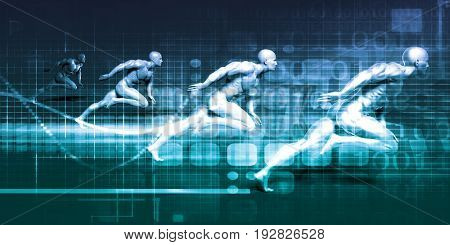 Physical Fitness and Education as a Sports Concept 3D Illustration Render