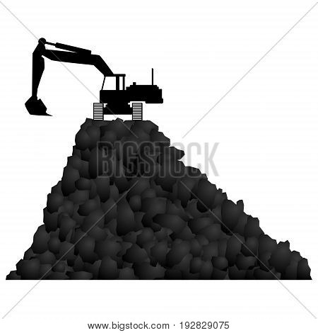 Coal industry Technique. The illustration on a white background.