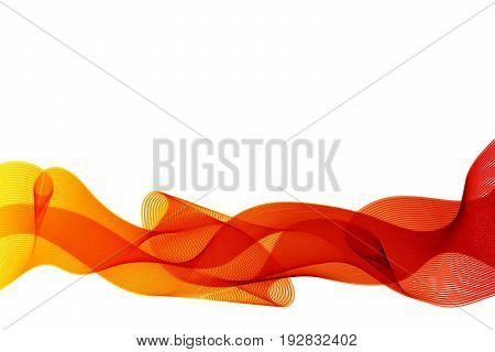 Curve orange lines abstract background with motion vector