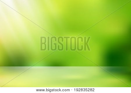 vector sunlight nature glitter, soft green nature color filter illustration abstract for background