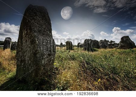 old megaliths - Carnac in Brittany France