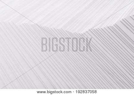 White striped stepped abstract texture with halftone border.