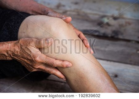 legs older person, Knee Pain, elder osteoarthritis poster