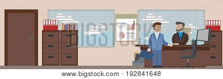 Concept banner of Business situations with isolated objects