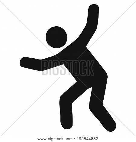 Stick Figure Icon standing flat loneliness simplicity poster