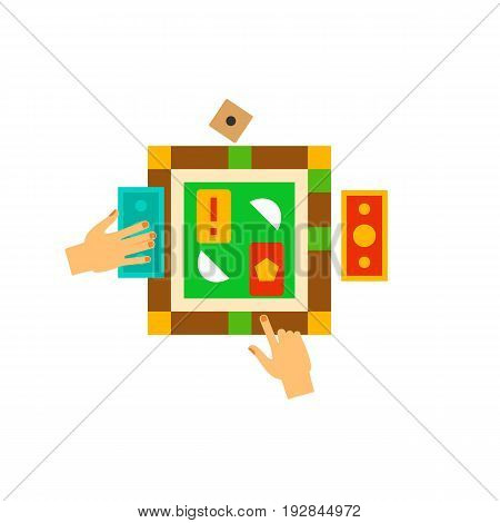 Icon of strategy game. Hobby, arguing, field. Board games concept. Can be used for topics like leisure, logic or financial game