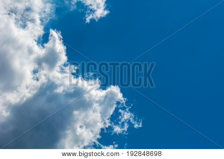 sky and art clouds as the background