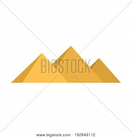 Egypt pyramids Giza isolated on white background. Vector illustration