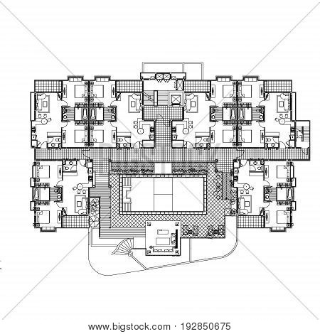 Flat construction plan vector for you ideas