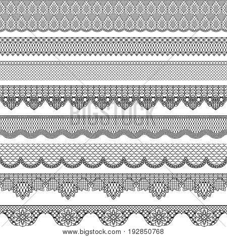 Vintage seamless border with lace texture. Vintage pattern decoration fashion illustration