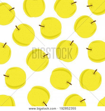 Much apples of the wanted colour on white background