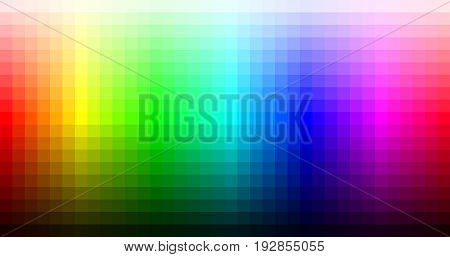 Color spectrum mosaic palette hue and brightness. Vector illustration