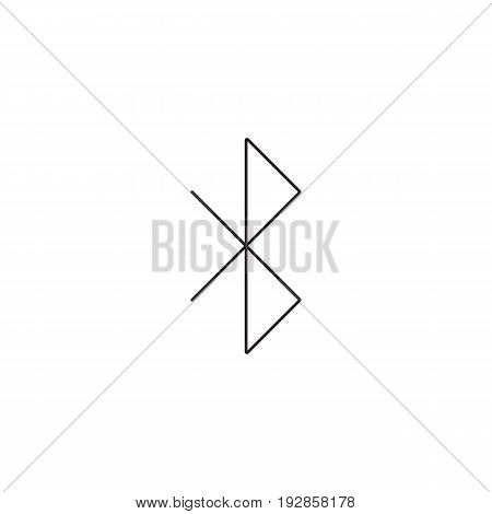 bluetooth line icon, strikeout eye outline vector logo illustration, linear pictogram isolated on white