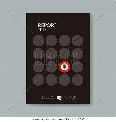 Annual business report cover template with modern material design style vector background. Symbol of target on front page. Eps10 vector illustration.