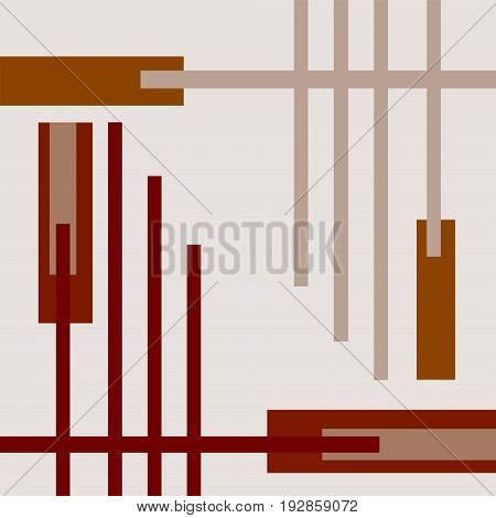 Conceptual geometric background with dark and light brown strips
