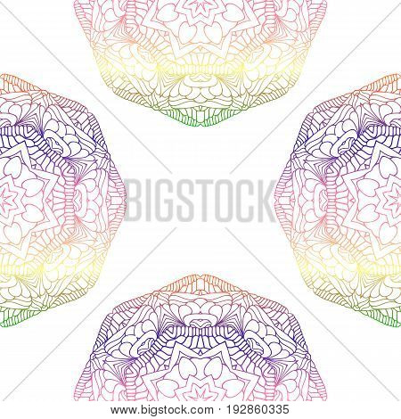 Vector Seamless Pattern With Colorful Ornament