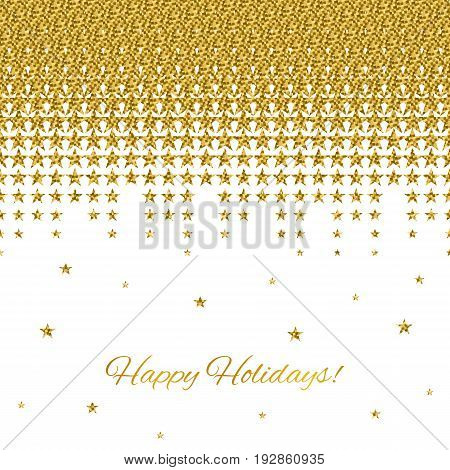 Luxury Background With Falling Golden Star Isolated On A White B
