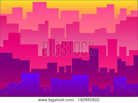 Cityscape in flat style. Cityscape vector illustration background.