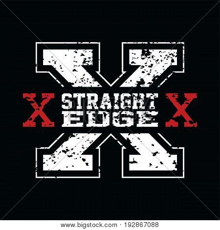 Straight Edge - Drug Free Youth Campaign Vector Art poster