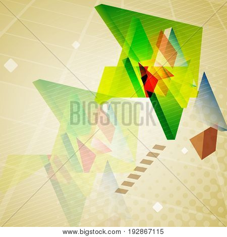 Abstract geometric colorful triangles background. Vector illustration.