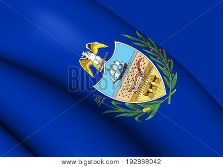 3D Flag Of Allegheny County (pennsylvania), Usa.