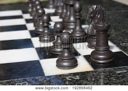 picture of a chess Board and chess pieces
