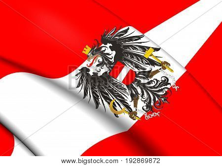 3D Flag Of The Austria.