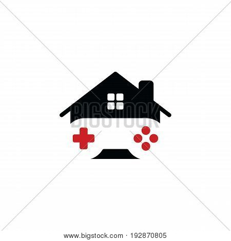 house of gaming - video game console - gamer - joystick vector art