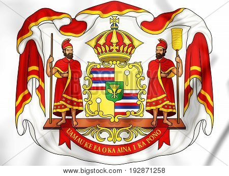 Royal Coat Of Arms Of Hawaii.