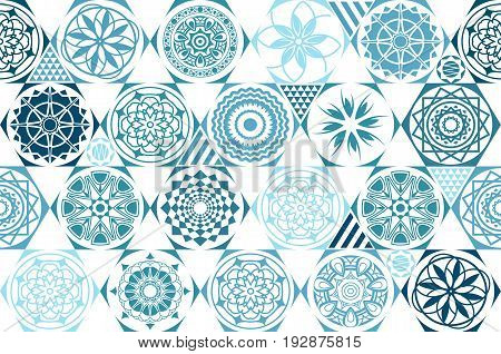Retro Mint Universal Different Vector Seamless Patterns. Tiling. Endless Texture Can Be Used For Wal