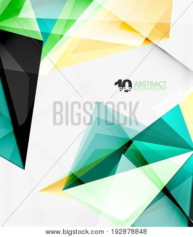 3d triangle polygonal abstract , creative modern abstract background for text, presentation wallpaper