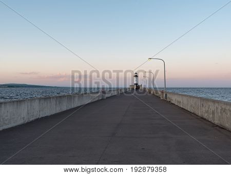 Lighthouse in Canal Park in Duluth Minnesota