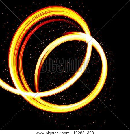 Abstract Fire background - flame design.  Vector illustration.