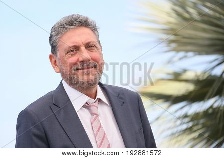 Director Sergio Castellitto attends the 'Fortunata' photocall during the 70th annual Cannes Film Festival at Palais des Festivals on May 21, 2017 in Cannes, France.