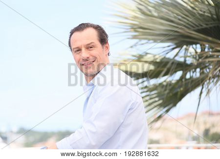 Stefano Accorsi attends the 'Fortunata' photocall during the 70th annual Cannes Film Festival at Palais des Festivals on May 21, 2017 in Cannes, France.
