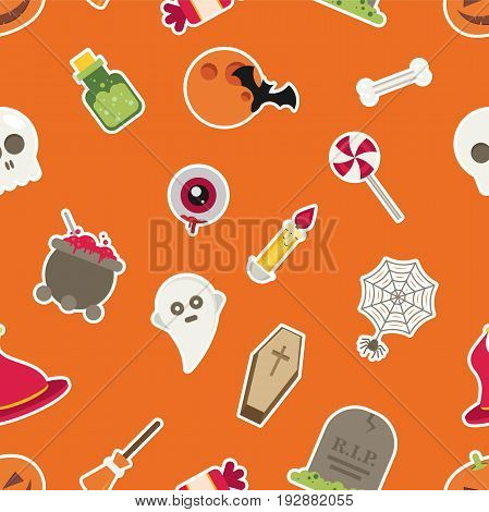Halloween Seamless Pattern vector colorful for design