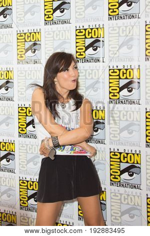 San Diego, CA - July 25, 2014: Ming-Na Wen of Marvel's Agents of S.H.I.E.L.D. arrives at Comic Con 2014 in San Diego, CA.
