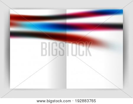 Blurred wave line. Business annual report abstract background. Business brochure or magazine template