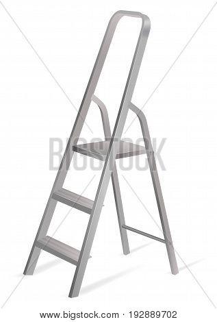Vector illustration of ladder on white background
