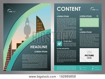 Vector Flyer, Corporate Business, Annual Report, Brochure Design And Cover Presentation With Cyan Li