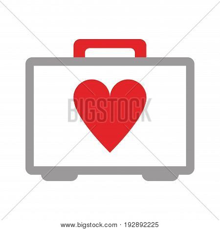 first aid kit icon image vector illustration design