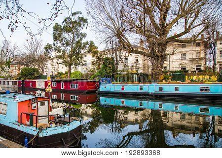 Regent's canal Little Venice in London UK