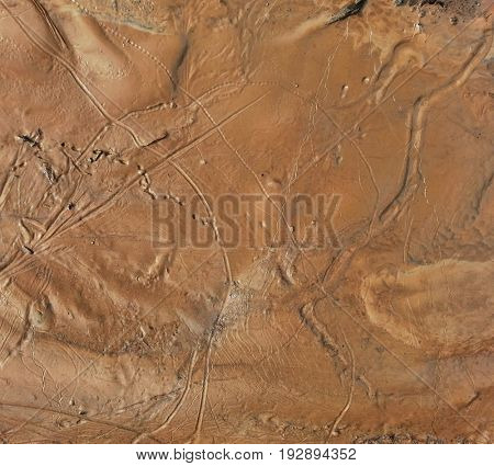 Hypothetical Aerial Martian Soil Surface Background