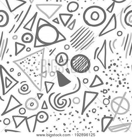 Memphis style seamless pattern set. vector illustration