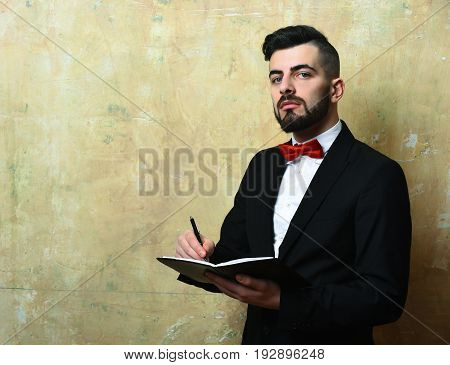 Bearded Employer With Cunning Face Expression And Neat Stylish Outfit
