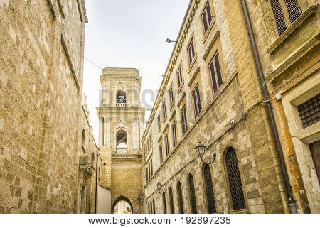 Cathedral In City Center Of Brindisi, Italy